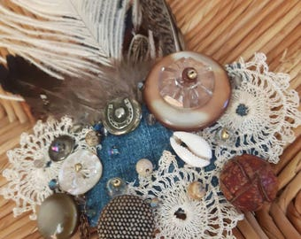 Skagen Stroke of Luck - ATS or tribal fusion belly dance hair clip | Gatsby flapper art deco  fascinator 1920 party ball (M)