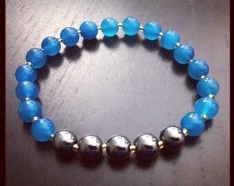 Blue Jade Crystal Bracelet