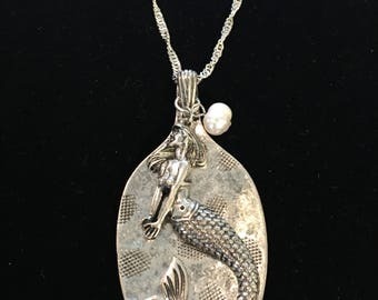 Sterling Silver Mermaid Spoon Necklace