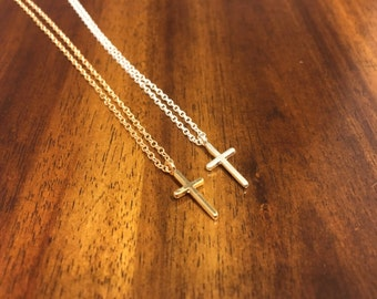 Cross Necklace - Cross Charm - Cross Pendant - Cross Jewelry - Gold Cross Necklace - Gold Cross Charm - Silver Cross Necklace - Cross