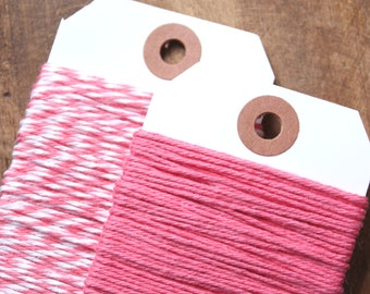 Pink Bakers Twine, Pink Twine, Pink String, Cotton Twine, Packaging, Gift Wrapping, Gift Wrap, Valentine's Twine, Baker's Twine (15 yds)