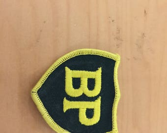 bp oil vintage patch, 1980's new old stock