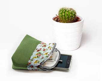 Double Kiss lock Coin Purse, Women Wallet, Double Pockets Wallet, Card Slot Wallet, Clutch Purse, Metal Frame, Gifts For Her