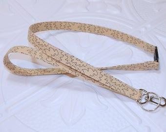 Fabric Lanyard - Breakaway Lanyard - Badge Holder - Teacher Lanyard - Key Lanyard - Teachers Gifts - Tan And Black