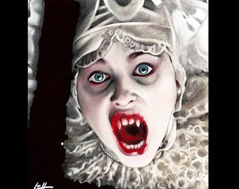 "Print 8x10"" - Lucy Westenra- Gary Oldman Bram Stoker Vampire Blood Winona Ryder Pop Art Lowbrow Art Gothic Sadie Frost Creature Dark Art"