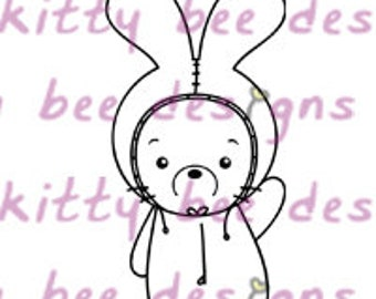 Onesie Bun  Digital Stamp