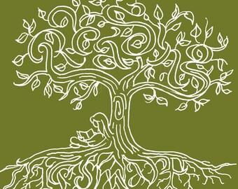 Lesen ist Smart - OLIVE-SAGE grün - neu