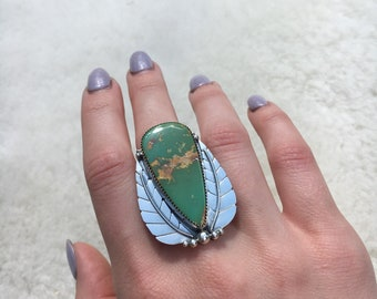 Royston Turquoise sterling silver ring size 7