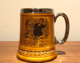 Lord Nelson Pottery England comical humour drinking stein mug vintage