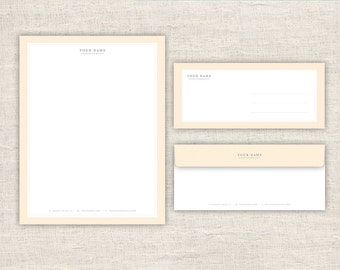 Stationery Letterhead & Envelope Design - Photo Marketing Template for Photographers - Photography Design Templates, INSTANT DOWNLOAD