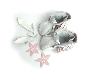 Indian Floral Leather Baby Shoes & Moccs