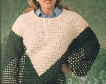 Vintage Slip Stitch Sweater Knitting Pattern