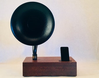 Acoustic Speaker, iPhone Speaker, Reproduction Gramophone Speaker, Wireless Speaker, iPhone Amplifier, iPhone Stand, iPhone Dock