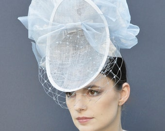 Royal Ascot Fascinator Hat, Ascot Headpiece, Ascot Hat, Ladies Day Hat, Fascinator, Percher