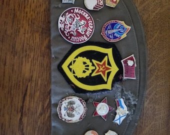 Soviet military medals and hat