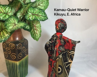 Kamau, Sherika Queen Statue, Welcome to Wakanda Collection, size 2, 9 inches