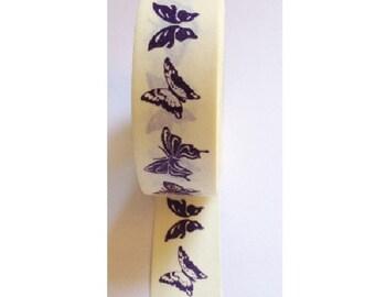 Japanese Washi Masking Tape - Blue Butterfly - 11 yards