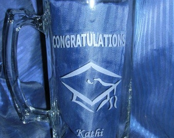 Etched glass mug, groomsman mug, beer mug, engraved glass mug, wedding glass, anniversary glass, custom glass mug, personalized glass mug