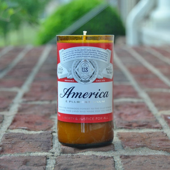 Budweiser Beer Bottle Candle - Budweiser America limited edition candle made with soy wax