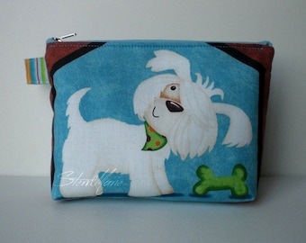 """Make-up bag """"Lucy"""" puppy SALE mint"""