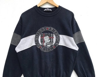 20% OFF Vintage Iceberg The Great  American Dream Sweatshirt / Iceberg Clothing / Iceberg Italy