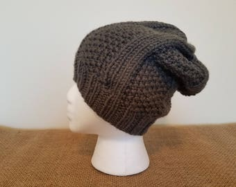 Gray slouchy hat, Size small/medium
