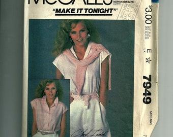 Vintage McCall's Misses' Top Pattern 7949