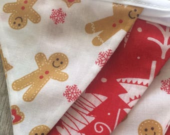 Gingerbread and Christmas tree bunting