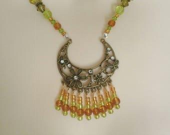 Crescent Moon Necklace, boho jewelry bohemian jewelry gypsy jewelry hippie jewelry new age gypsy necklace boho necklace bohemian necklace
