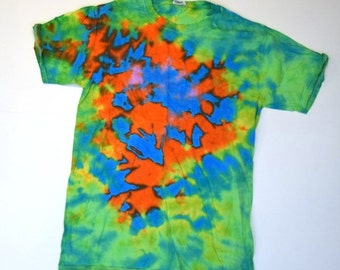 Spacetime Continuum ~ Tie Dye T-Shirt (Fruit of the Loom Heavy HD Size S) (One of a Kind)