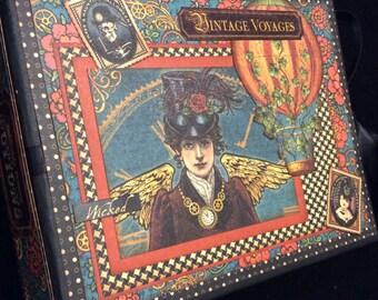 PREMIUM Paper Bag Album, Halloween Mini Album, Photo Album, Sreampunk, Vintage Style, Haunting