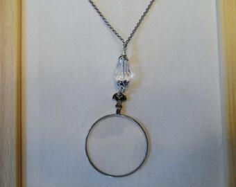 Beaded Chain Monocle Pendant