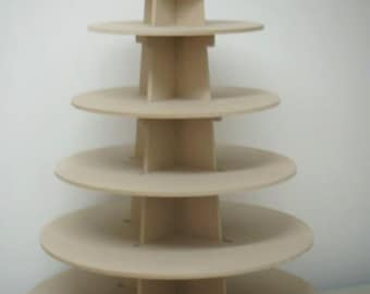 6 tier Cupcake stand, made of wood (mdf) perfect for parties or house, good capacity. easy handling