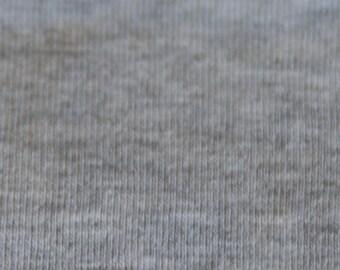KNIT Fabric: Heather Grey Cotton Lycra knit