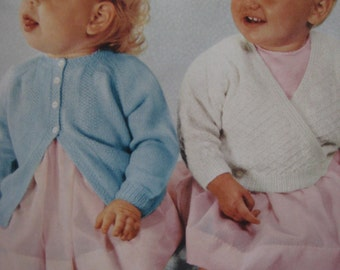 1960's 2 Vintage Knit Patterns Baby Sweaters 6098 PDF Patterns