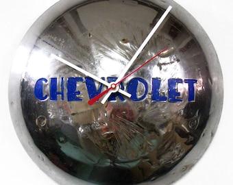 Chevy Truck Wall Clock - 1947 - 1954 Chevrolet Pickup Hubcap - Hub Cap Decor - 1948 1949 1950 1951 1952 1953