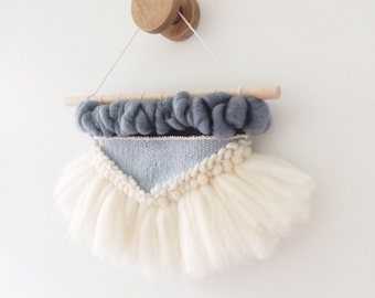 Woven Wall Hanging: Boho Tapestry, Mini Ballerina Weaving