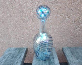 Parfum bottle, little bottle vintage blown glass, glass artistico1960