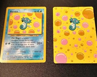Horsea- Painted Pokemon card