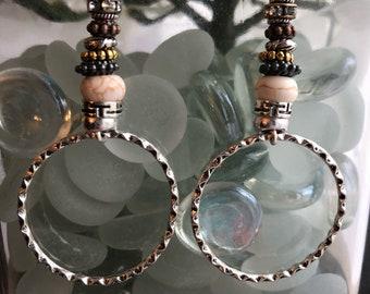 DBC:Boho Inspired Mixed Metal Earrings
