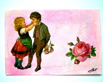 With its romantic post card envelope.