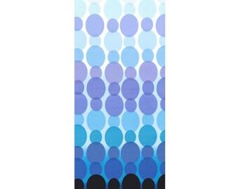 Ombre Blue Oval Dot Fabric, Michael Miller PC-6307 Blue Rain Dot, Black, Blue, Turquoise, Aqua, Lavender Dots Quilt Fabric, Cotton