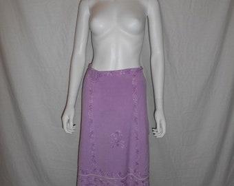 Closing Shop SALE Purple floral wrap skirt