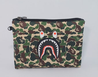 Bape Shark Cosmetic Bag Travel Pouch Make Up Bag Toiletry Travel Zipper Pouch Cosmetic Bag Cosmetic Case