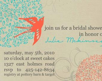 Bridal Shower Invitation -- Full Bloom