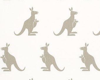 """KANGAROO fabric-Premier Prints White/Gunmetal Tan or choice of color 54"""" wide Fabric by the yard 1 Yard or More"""