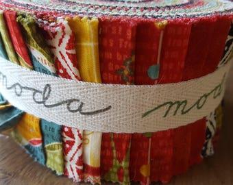 Moda Jelly roll, JOVIAL, jolis tissus de Noël.