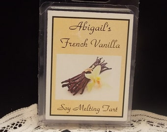 French Vanilla Handmade Natural Soy Melting Candle Tart  by Abigails on Main
