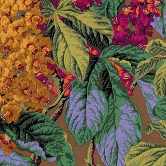 HORSE CHESTNUT Brown PWPJ084.brown Philip Jacobs Kaffe Fassett Collective Sold in 1/2 yd increments