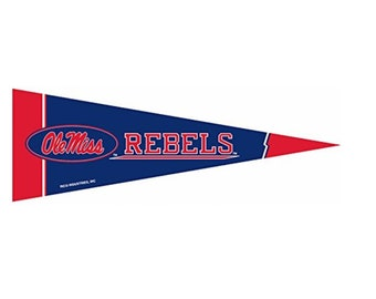 """Ole Miss Rebels NCAA Small Pennants, 5"""" x 15"""" - University of Mississippi"""